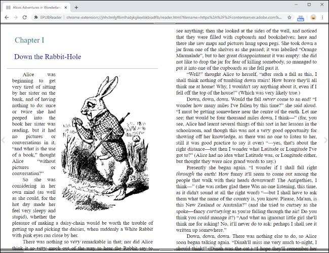 Lire un fichier EPUB directement dans Google Chrome.