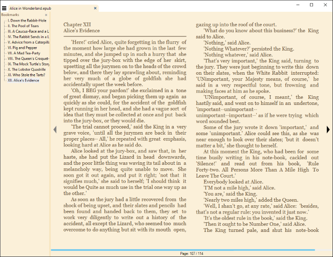 Lire un eBook dans Sumatra PDF pour Windows.