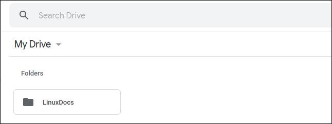Dossier LinuxDocs dans Google Drive