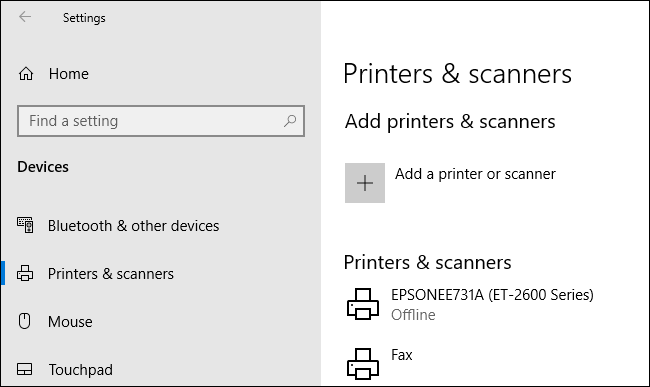 Accédez aux paramètres de votre imprimante Windows en cliquant avec le bouton droit sur le bouton du menu Démarrer, en cliquant sur Paramètres, puis sur Périphériques> Imprimantes et scanners» width=»650″ height=»387″ onload=»pagespeed.lazyLoadImages.loadIfVisibleAndMaybeBeacon(this);» onerror=»this.onerror=null;pagespeed.lazyLoadImages.loadIfVisibleAndMaybeBeacon(this);»></p> <p>Trouvez votre imprimante dans la liste «Imprimantes et scanners», cliquez dessus, puis cliquez sur «Ouvrir la file d'attente» pour ouvrir la file d'attente d'impression.</p> <p><img class=