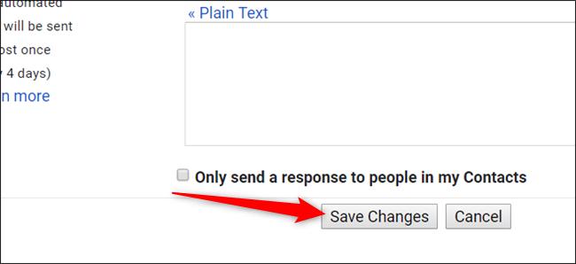 """Faites défiler vers le bas et cliquez sur """"Enregistrer les modifications""""."""