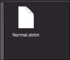 Le fichier Normal.dotm sur un Mac.