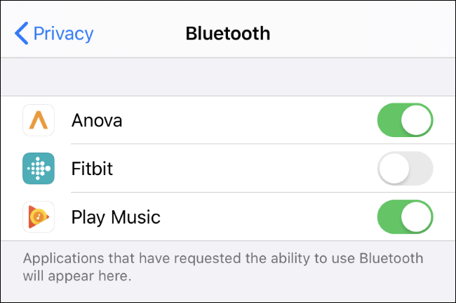 Voir et contrôler quelles applications peuvent utiliser Bluetooth sur un iPhone ou un iPad.