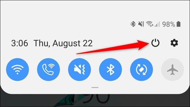 Bouton d'alimentation de l'ombre de notification pour Samsung Galaxy Note 10 Plus