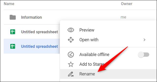 """Cliquez avec le bouton droit sur un fichier et choisissez """"Renommer"""" dans le menu contextuel"""