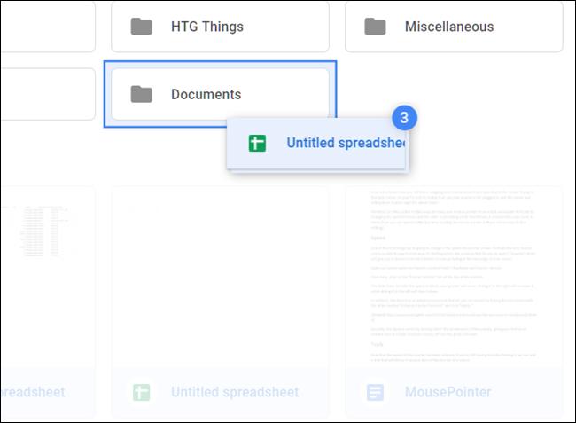Faites glisser les fichiers directement dans le dossier