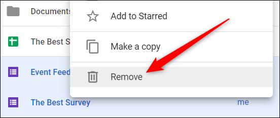 Sélectionnez un fichier, cliquez dessus avec le bouton droit de la souris, puis cliquez sur «Supprimer» pour le supprimer