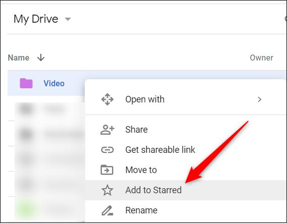 """Cliquez avec le bouton droit sur un fichier / dossier, puis cliquez sur """"Ajouter aux favoris""""."""