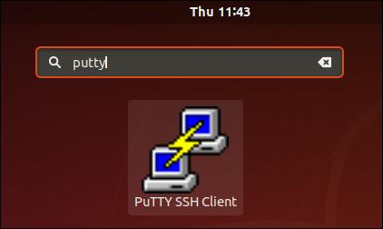 L'icône PuTTY