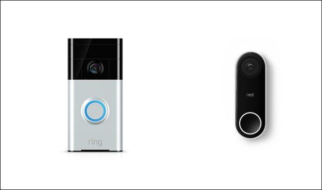 Ring Video Doorbell et Nest Hello Doorbell