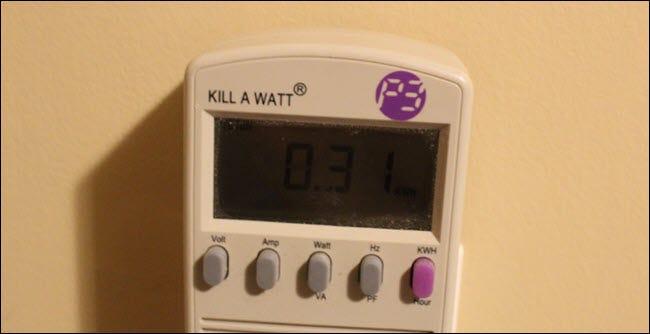 Tuez un moniteur de watts affichant 0,31 kWh utilisé.