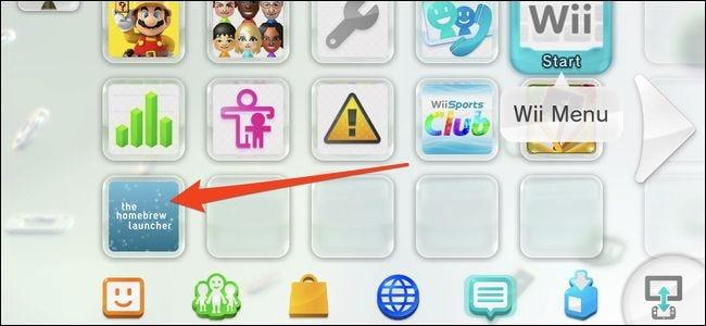 Chaîne Wii U Homebrew Launcher sur l'écran d'accueil