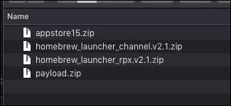 Fichiers nécessaires Wii U Homebrew