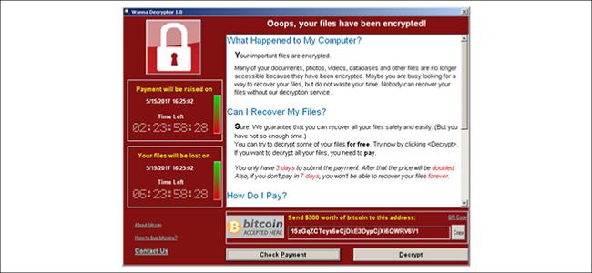Le ransomware Wanna Cry.