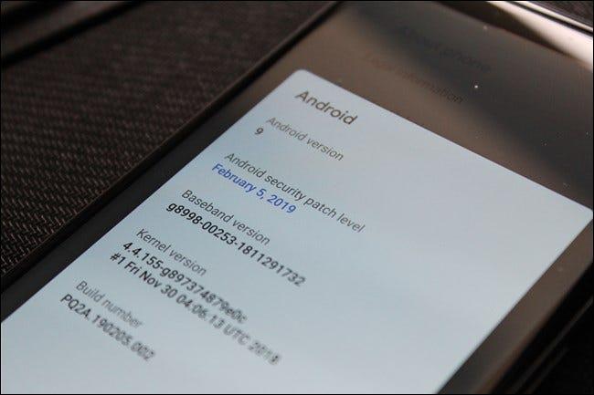Date du correctif de sécurité Google Pixel 2 XL