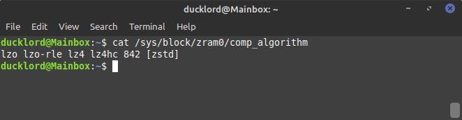 Configurer Zram sur les algorithmes de compression Ubuntu Check