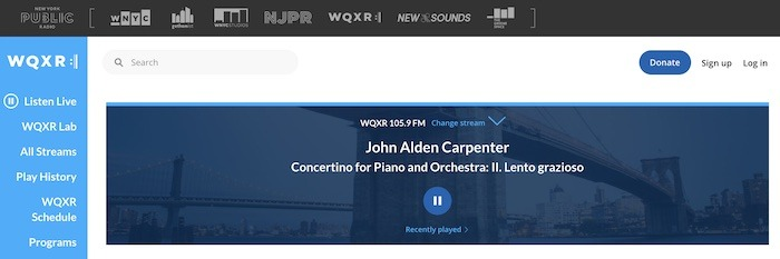 Stations Web Radio utiles Wqxr Newyork