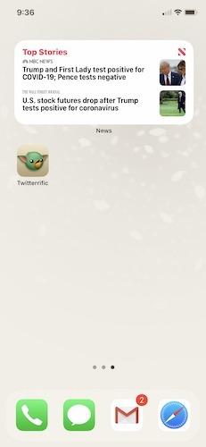 Les widgets Apple Ios 14 créent le widget cinq