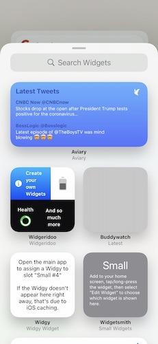 Les widgets Apple Ios 14 créent le widget deux