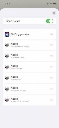 Smart Stack Three des widgets Apple Ios 14