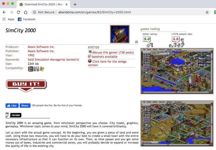 Le site Web d'Abandonia propose une vaste collection de jeux DOS que vous pouvez télécharger gratuitement.