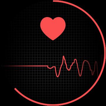 suivi de la fréquence cardiaque en cours