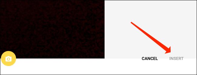 """Cliquez sur """"Insérer"""" pour ajouter une image à l"""