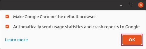 La boîte de dialogue du navigateur par défaut de Google Chrome
