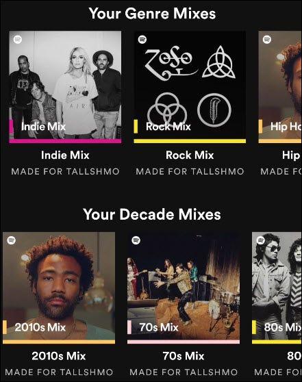 Spotify mixe.