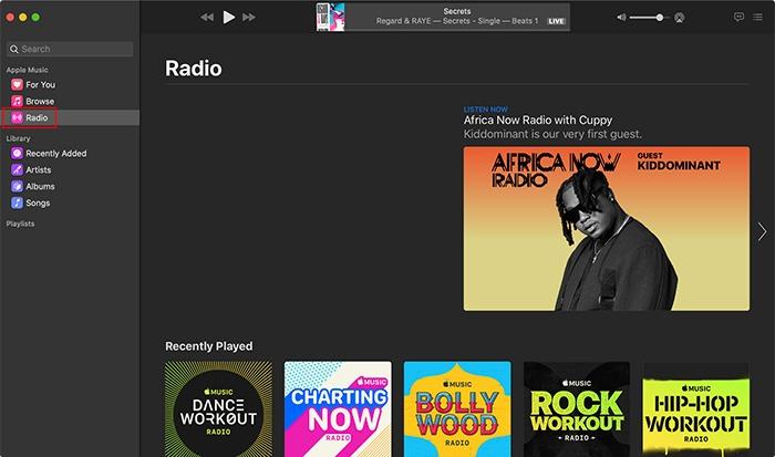 Apple Music Radio Station Macos