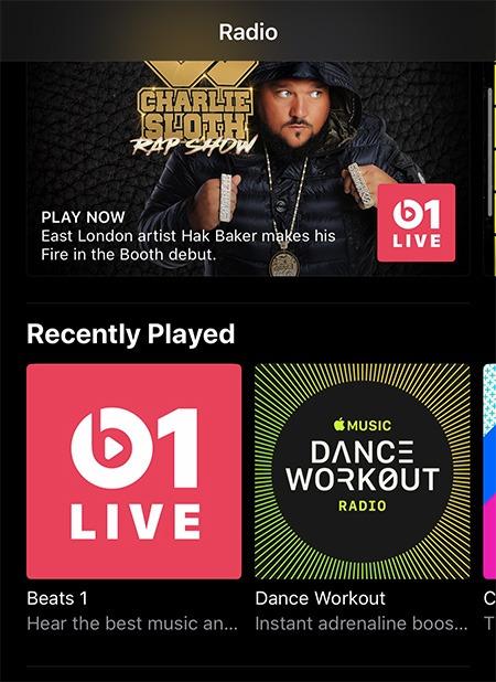 Station de radio Apple Music Ios