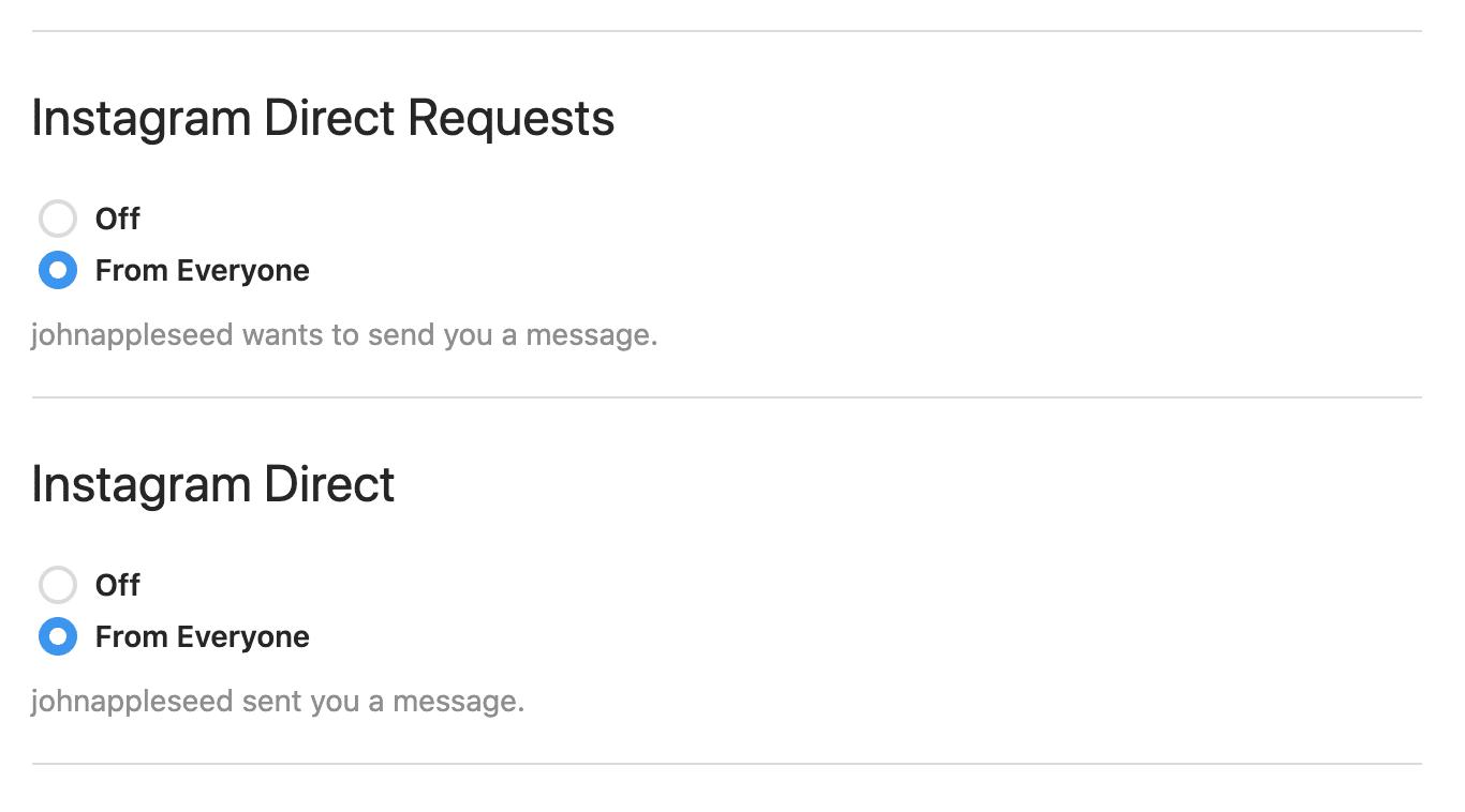Configurer des notifications pour les DM Instagram