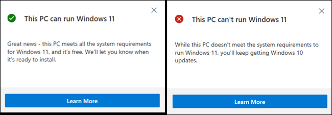 Informations sur l'exécution de Windows 11 sur votre PC.