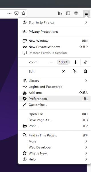 Pointez le serveur Mozilla Firefox en direction de votre serveur proxy Tor.