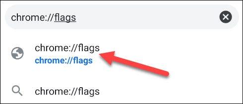 Accédez à la page Chrome Flags.