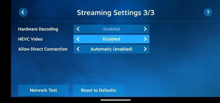 Comment configurer les paramètres de lecture à distance du client Steam Link 5
