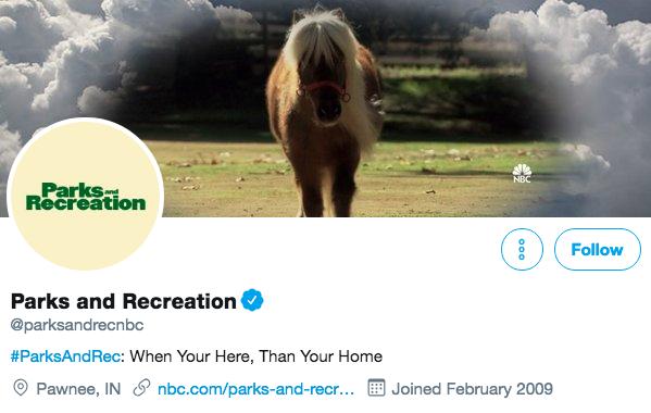 Biographie Twitter pour Parcs et loisirs