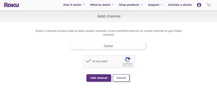 Diffusez Twitch sur Roku Ajouter une chaîne