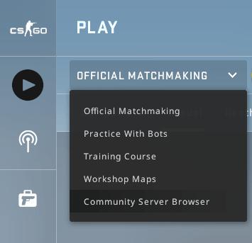 Navigateur de serveur de communauté Csgo Server Select
