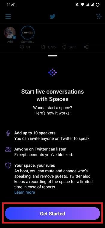Premiers pas avec les espaces Twitter