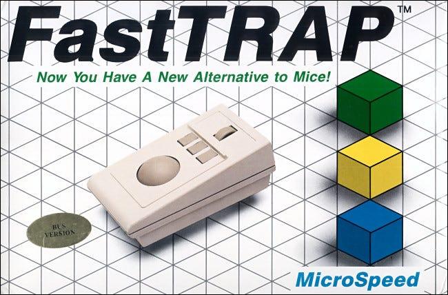 Le trackball FastTRAP 1987 comprenait une molette pour le contrôle de l'axe z.