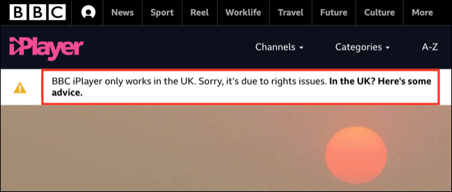 Erreur BBC iPlayer