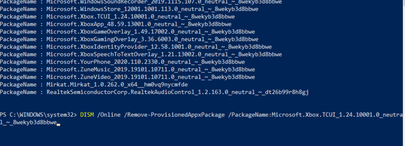 Supprimer Bloatware Windows Supprimer Appxpackage