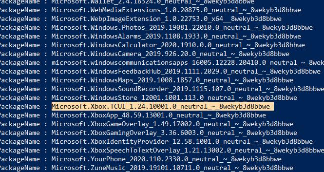 Supprimer le nom du package de copie de Windows Bloatware