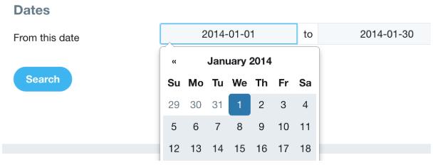 rechercher les anciens tweets Twitter recherche avancée calendrier