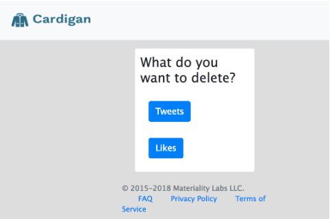 Cardigan demandant que voulez-vous supprimer