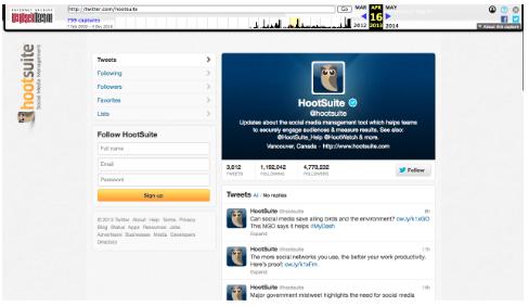 La page twitter de Moyens I/O sur la machine Wayback en 2013