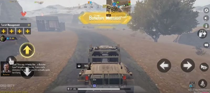 Mission secondaire du boucher dans COD Mobile Undead Siege (Image via COD Mobile)
