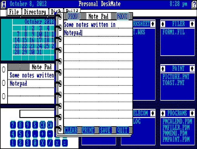 Tandy Personal Deskmate 1 pour PC