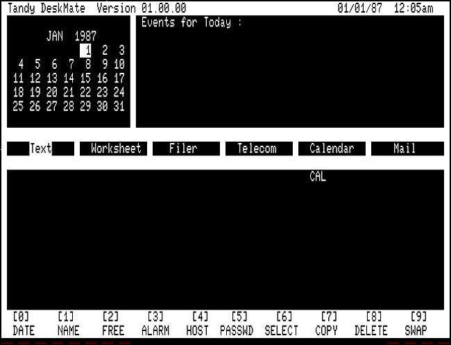Tandy DeskMate 1.00 pour TRS-80